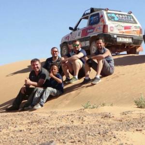 Los onubenses han recorrido 2.000 kilómetros de desierto en seis etapas.