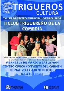 Cartel de II Club Triguereño de la Comedia.