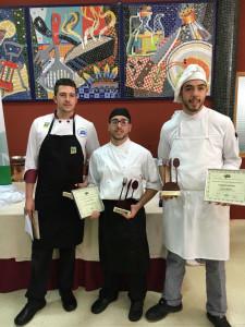 Los tres primeros ganadores del certamen.