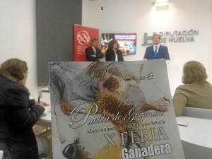 La X Feria Ganadera de Puebla de Guzmán ha sido presentada hoy en la Diputación.