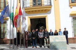 Concentración en el Ayuntamiento de La Palma.