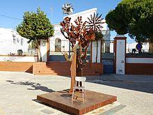 Imagen de 'La Miga', otra de María José Díaz, expuesta en Moguer.