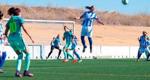 En el partido en Huelva las azulgranas se llevaron los tres puntos con un gol de Melani a diez minutos para el final.