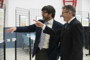 Andrés Espuelas, con el rector de la UHU. / Foto: María Clauss.