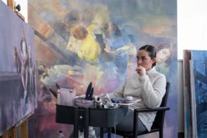 La artista Virginia Saldaña.