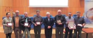 Los representantes de las entidades premiadas.