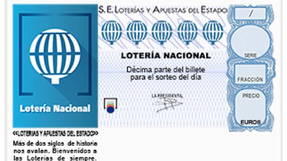 El segundo premio de la Lotería Nacional deja 120.000 euros en Huelva