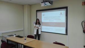 Rocío Álvarez el día que presentó su proyecto.