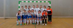 Combinado onubense de fútbol sala femenino, plata en el Campeonato celebrado en Huelva.