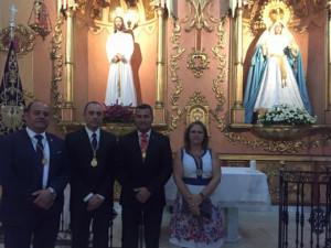 Daniel Villalba -segundo por la izquierda- con otros miembros de la junta de gobierno en julio del año pasado.