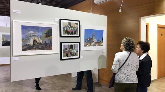 Los artistas ayamontinos de La Escalera exhiben sus obras en La Puebla de Guzmán