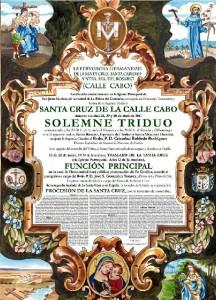 Cartel del Triduo de la Hermandad palmerina.