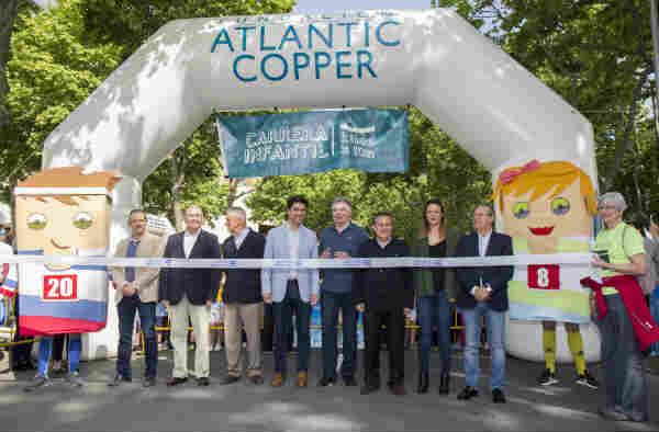 La Fundación Atlantic Copper recauda más de 1.600 kilos de alimentos en la carrera 'Kilos x Km'