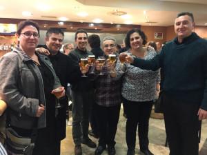 Seis músicos de la Banda Municipal de Huelva participaron en el concierto solidario.