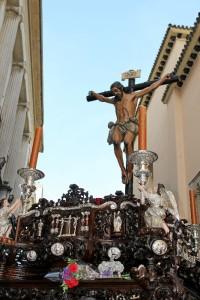 Santísimo Cristo de la Buena Muerte en su salida en 2017.