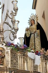Imagen de la procesión de Nuestra Madre de la Consolación y Correa en sus Dolores en 2017.