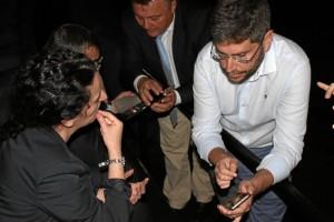 Tras la rueda de prensa se procedió a comprobar cómo funciona la App a través de una demo en una de sus salas.