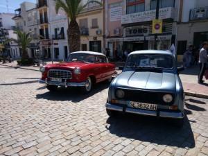 Exhibición de automóviles clásicos.