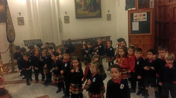 Escolares visitan la Hermandad de La Esperanza de Huelva