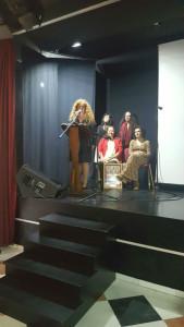 La presidenta de Unipo, Cinta Flores, durante su intervención.