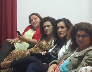 De izda a derecha: Mery, María Eugenia, Cecilia y Eva.