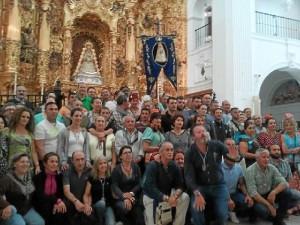 Foto de familia de los participantes en El Rocío.