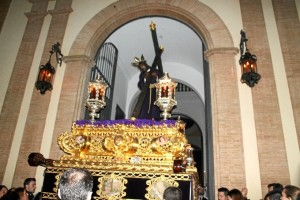 Salida de la Hermandad del Calvario en la pasada Semana Santa.