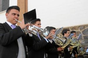 Banda Sinfónica del Liceo Municipal de la música de Moguer, acompañamiento musical de Nuestra Señora del Valle.