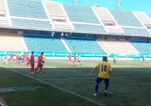 La Palma plantó cara en el primer tiempo al Cádiz B, que luego dio la vuelta al marcardor. / Foto: @Cadiz_CF.