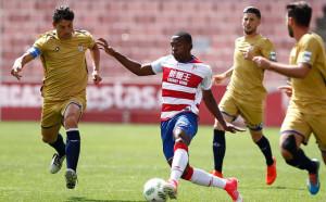 El Recreativo empató a dos goles en su visita al Granada B. / Foto: www.granadacf.es/.