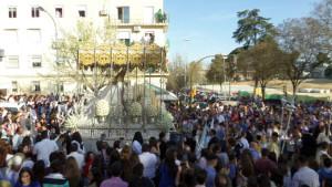 El barrio de San Sebastián se ha echado a la calle para acompañar a Los Mutilados.
