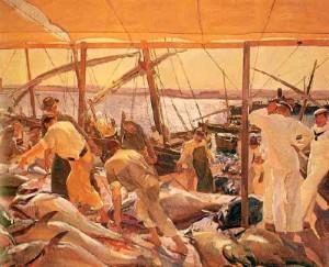 Sorolla inmortalizó la pesca del atún en Ayamonte.