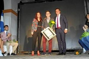 El onubense recibía recientemente el Premio Joven en la categoría de investigador en su pueblo, Bollullos del Condado.
