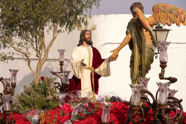 La procesión de Jesús Caído dio paso a la Madrugá ayamontina