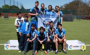 Los arqueros del Asirio en la prueba disputada en Madrid.