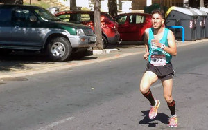 Juan José García durante la carrera de este domingo.