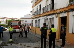 El incendio ha tenido lugar en la calle Campo de la localidad.