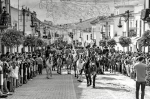 Los caballos tienen un enorme protagonismo en esta fiesta. / Foto: Emilio Romero.