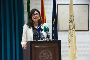 La candidata a rectora María Antonia Peña.