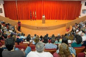 Intervención de María Antonia Peña en el acto.