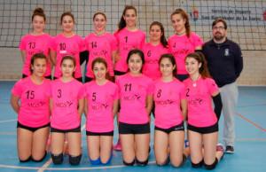 El CDV San Bartolomé, subcampeón de Huelva cadete de voleibol femenino.