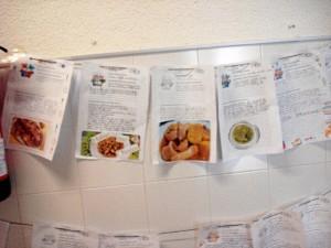 Recetas realizadas por los alumnos con los platos más típicos de Huelva.