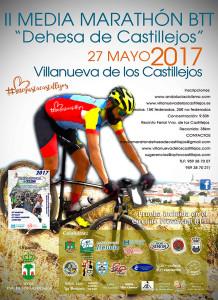 Cartel de la prueba ciclista del día 27 en Villanueva de los Castillejos.