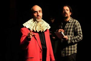 Cervantes y el director.