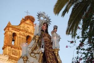 Procesión de la Virgen del Carmen, Patrona de Trigueros.