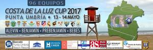 Cartel del Costa de la Luz Cup que se disputa este fin de semana en Punta Umbría.