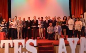 Los premiados durante la Gala del Deporte de la AOPD.