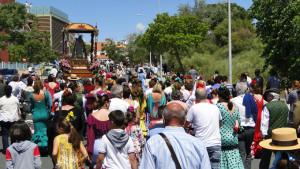 Gran afluencia de romeros en el camino.