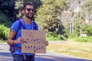 El joven inició el pasado año su proyecto de recorrer el mundo en busca de la felicidad.