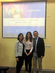 Patricia, con Ignacio Aguaded, su director de tesis.